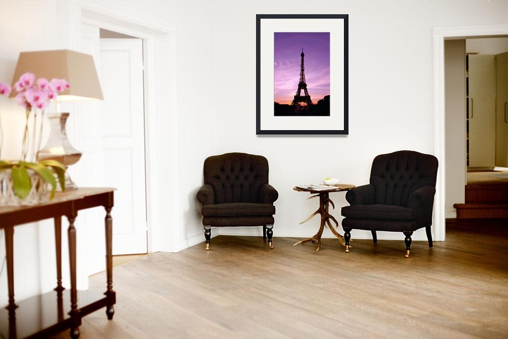 """""""The Eiffel Tower at Sunset Paris, France&quot  (2014) by daisyjoan"""