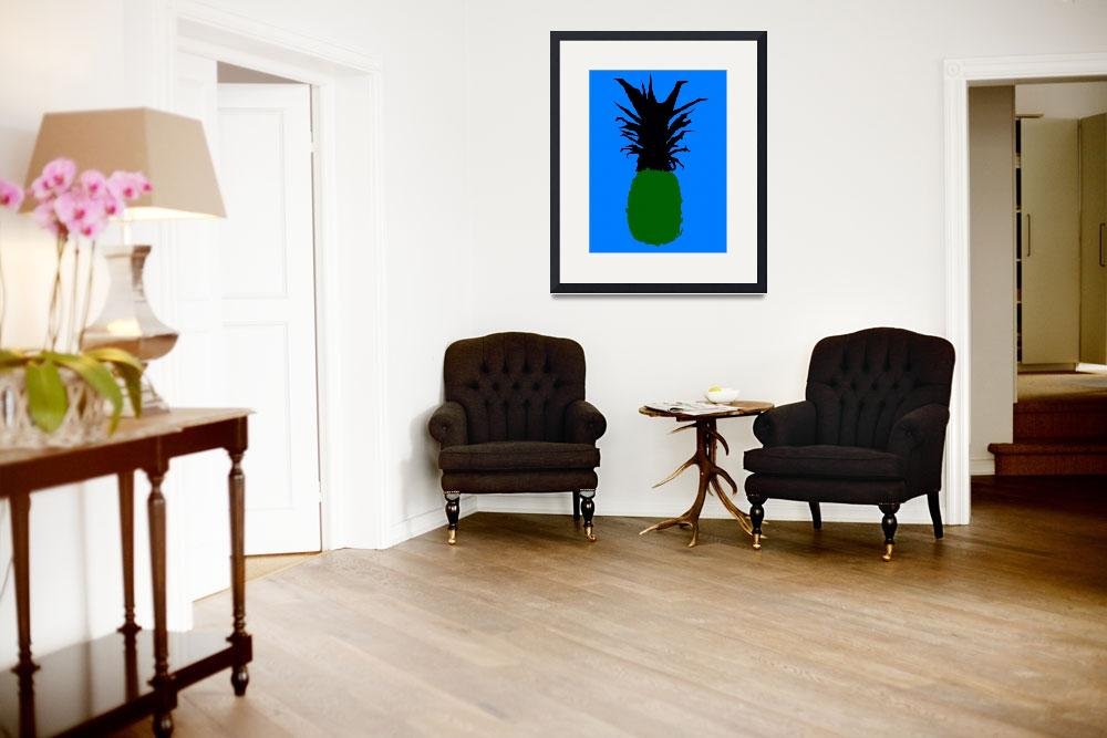 """""""Pineapple green blue (c)""""  (2014) by edmarion"""