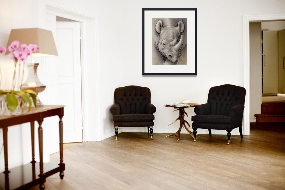 """""""Black Rhino&quot  (2009) by smbittler"""