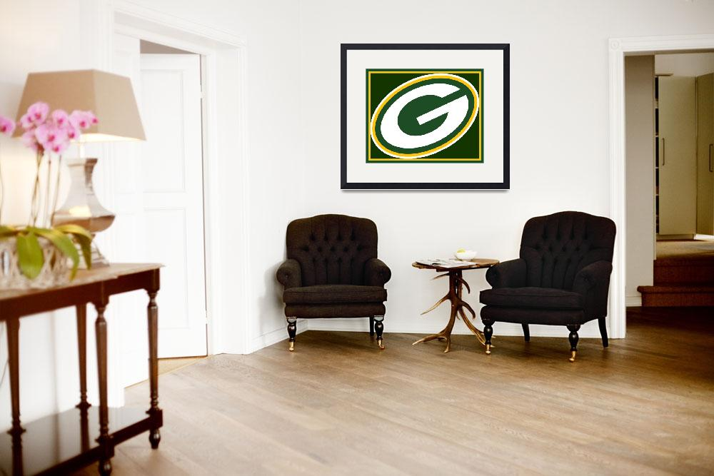 """""""Green Bay Packers&quot  (2015) by RubinoFineArt"""