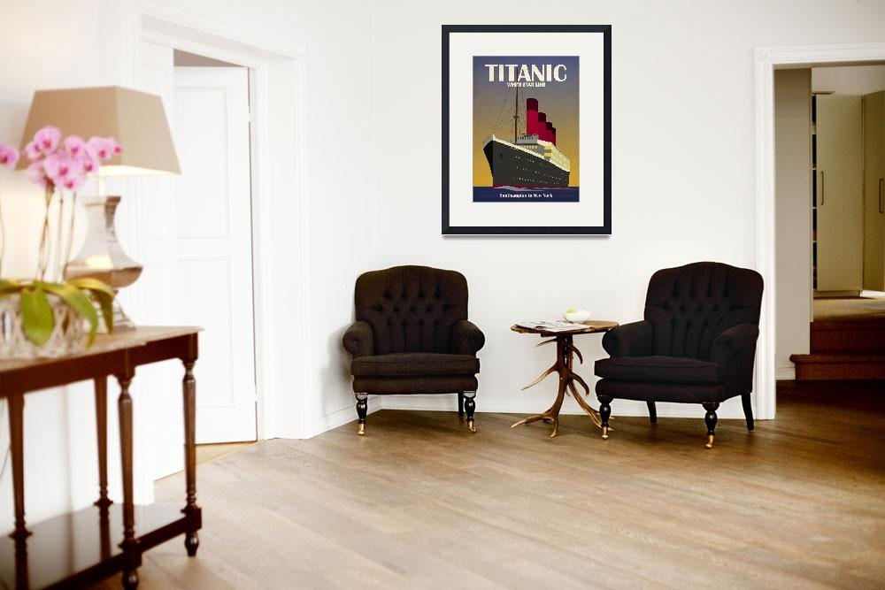 """Titanic Ocean Liner Art Deco&quot  (2010) by ModernArtPrints"