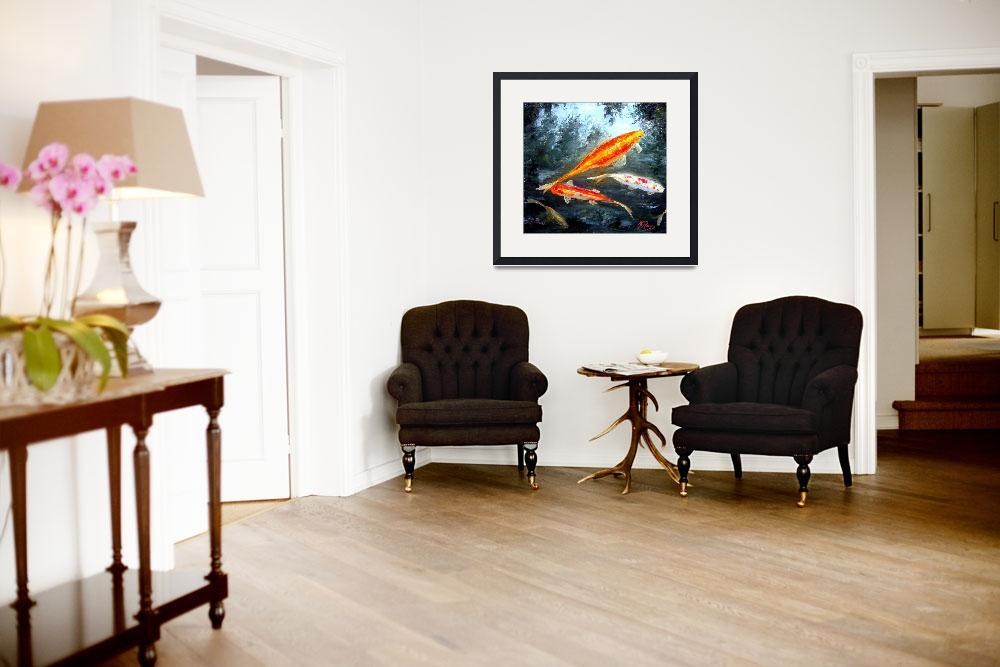 """""""Koi Fish Oil Painting&quot  (2009) by mazz"""