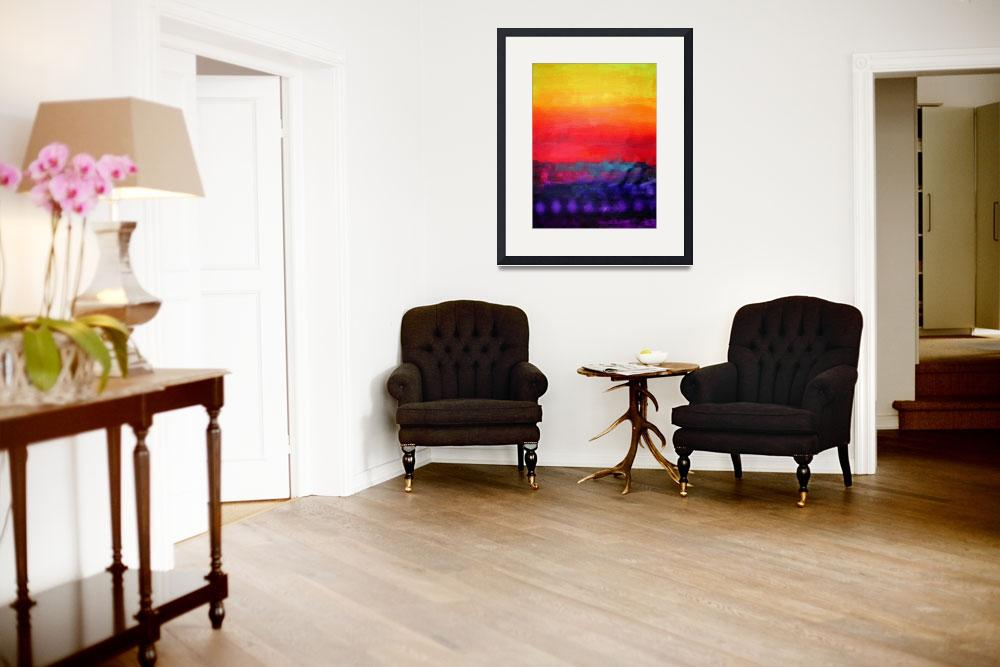 """""""Philip Bowman Evening Colors Modern Abstract Art&quot  by masterpiecesofart"""