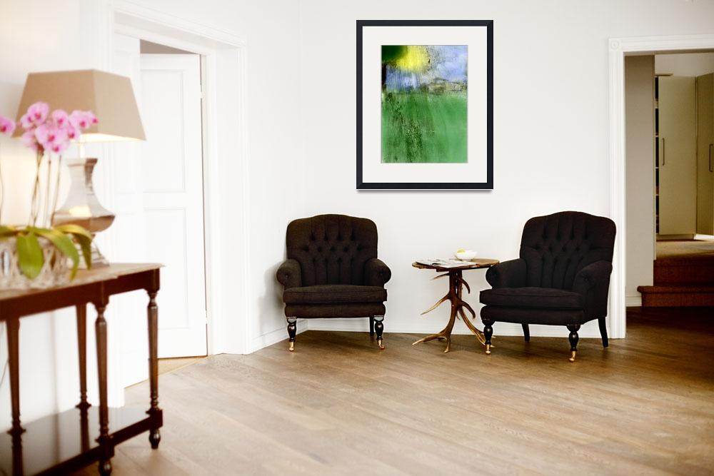 """""""sunshine and village photographic painting&quot  (2014) by jnanian"""