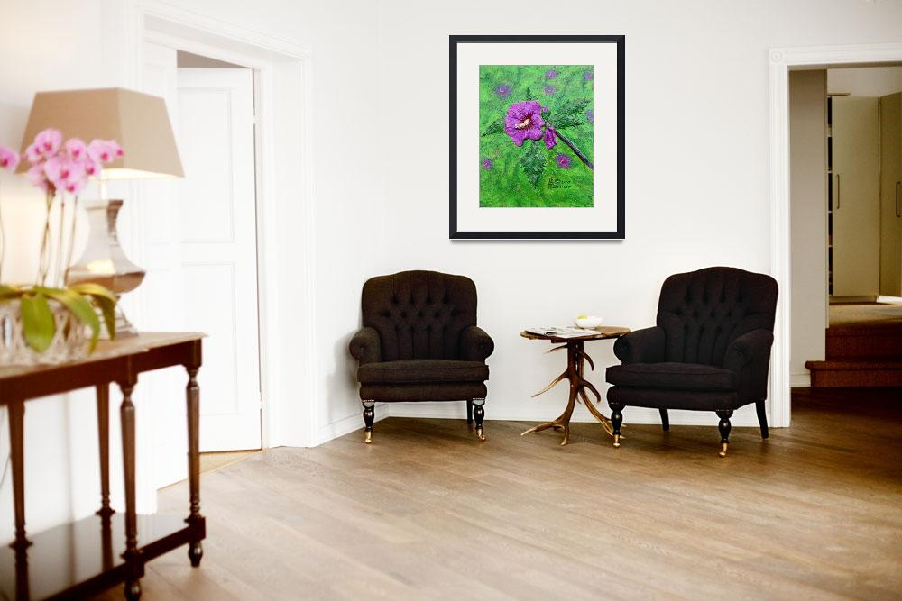 """""""Rose of Sharon Painting""""  (2007) by catnip009"""