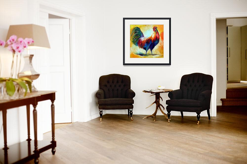 """""""RED WING ROOSTER&quot  (2010) by MBaldwinFineArt2006"""