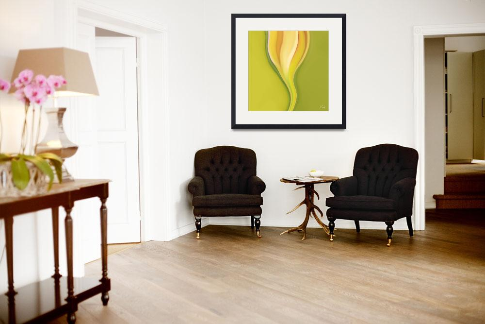 """""""Abstract floral-Crocus""""  (2007) by artbykeys"""