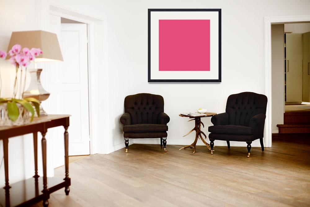 """""""Square PMS-205 HEX-E54C7C Pink Red Magenta&quot  (2010) by Ricardos"""