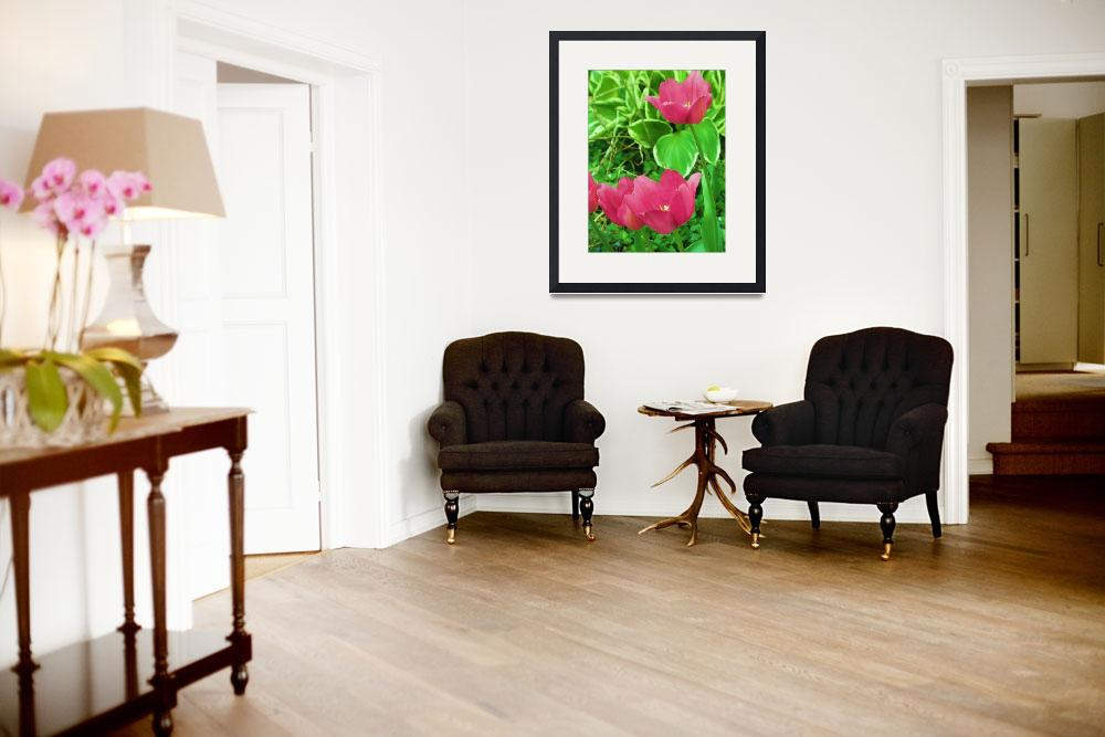 """""""Pink Tulips&quot  (2010) by valball_100"""