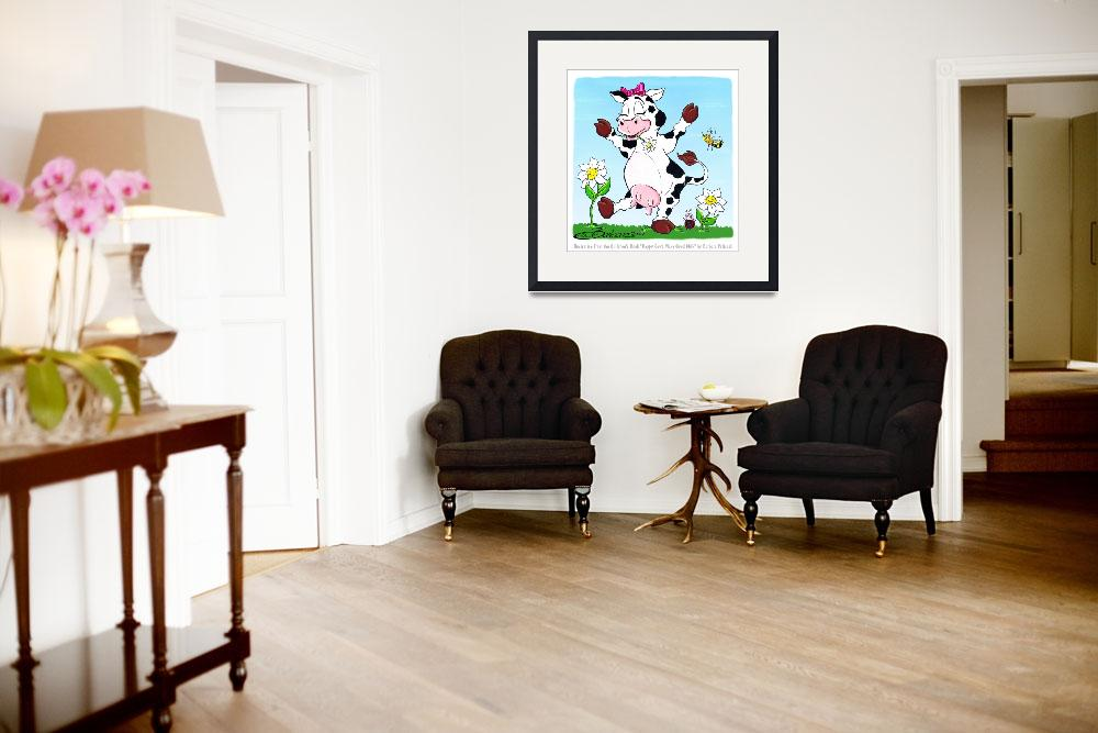 """Daisy is a Happy Cow""  (2012) by BarbaraPelizzoli"