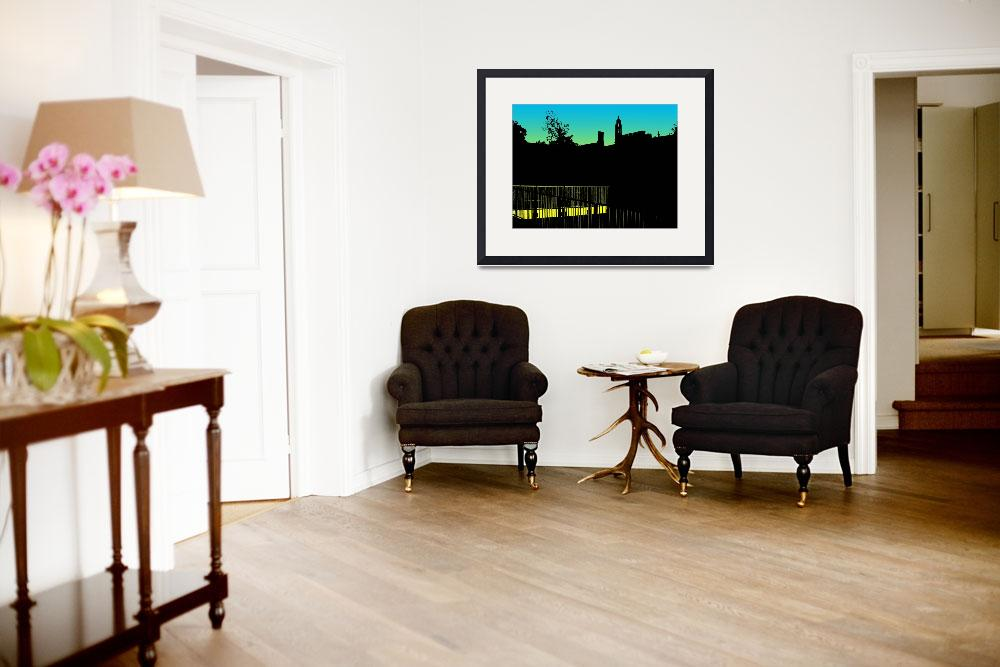 """""""Silhouette of turret building&quot  (2010) by Bayardo"""
