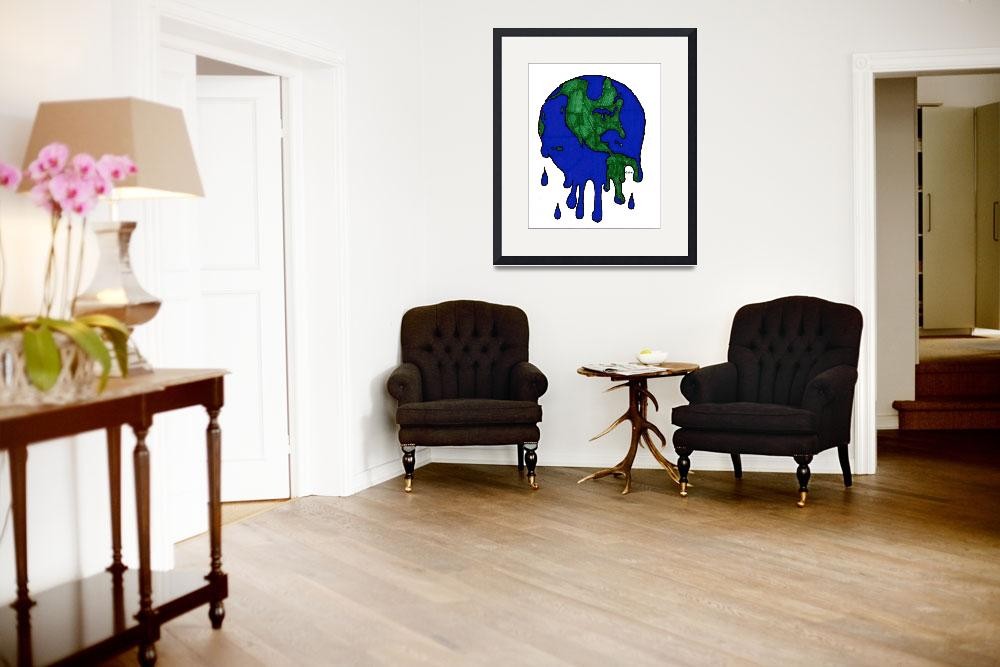 """""""Planet Earth Melting""""  (2008) by Nanwright"""