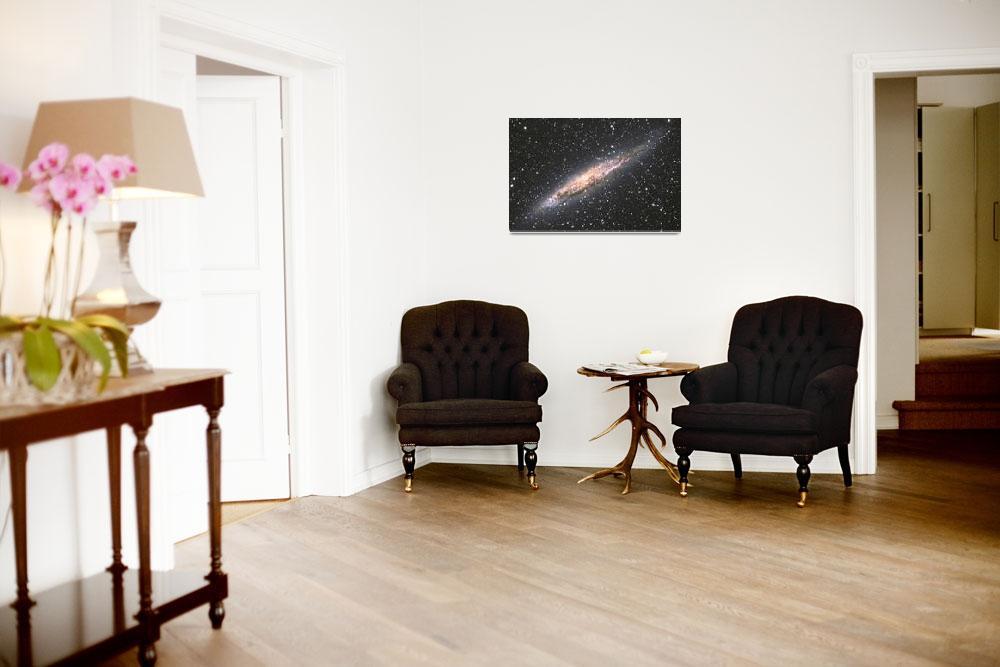 """Edge-on Galaxy NGC4945""  (2008) by wkloehr"