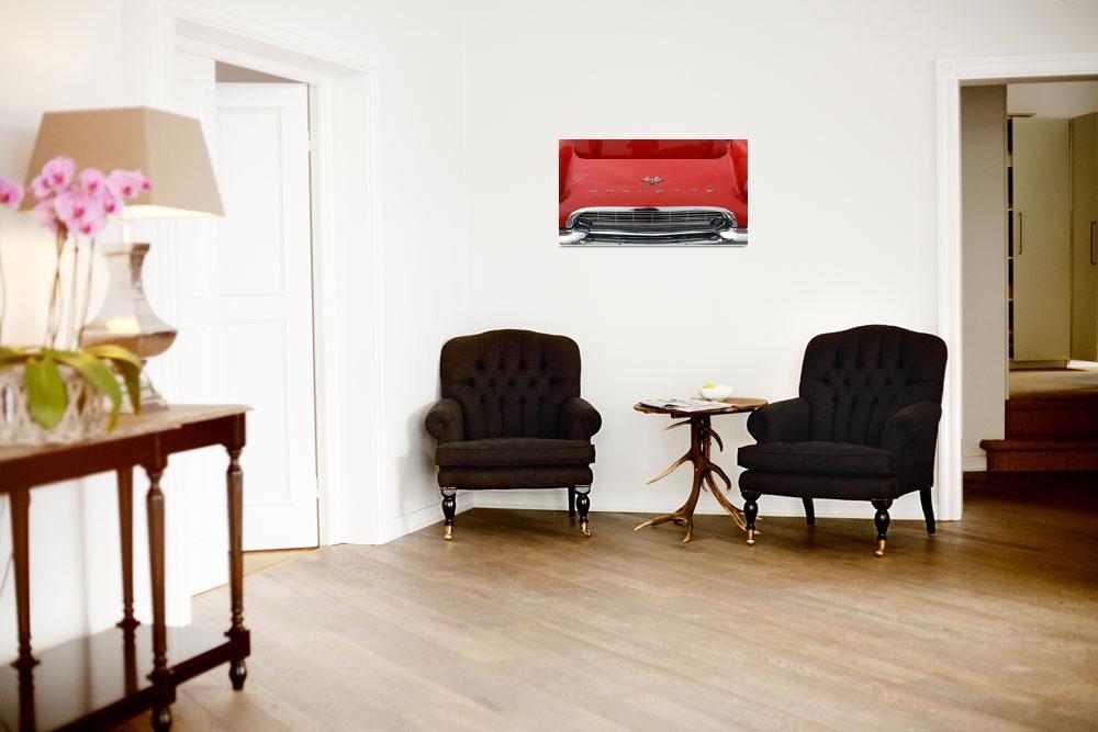 """Classic Car 1961 Red Corvette Hood""  (2010) by garthglazier"