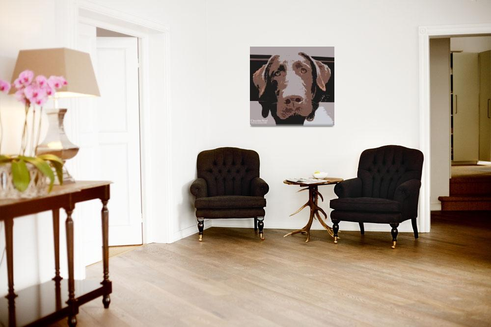 """Chocolate Woof - Pet art by Riccoboni&quot  (2004) by RDRiccoboni"