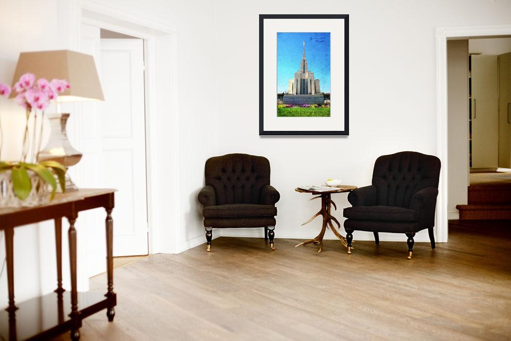 """""""Oquirrh Mt Temple (front)""""  by brycegandy"""