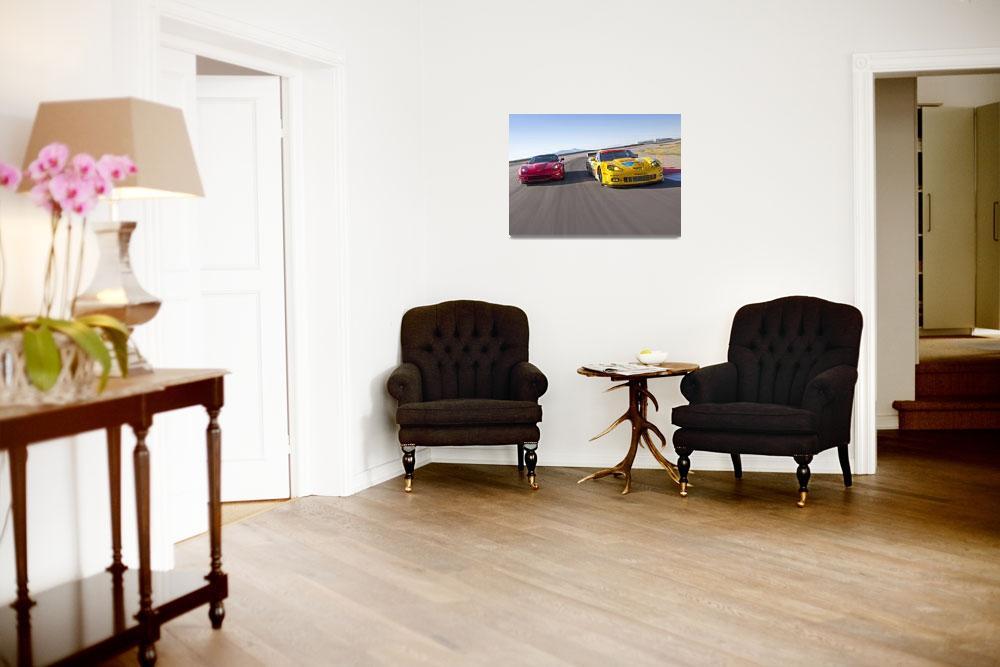"""Chevrolet Corvettes ZR1 and C6 R 2010&quot  by roadandtrackphotos"