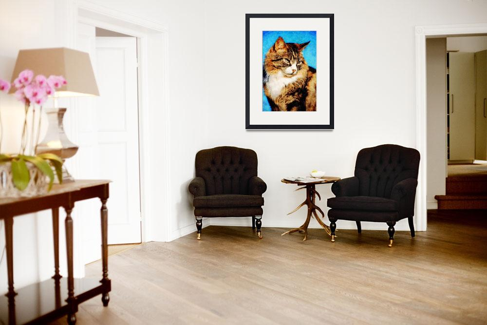 """Tabby cat portrait""  (2008) by DavidFowler"