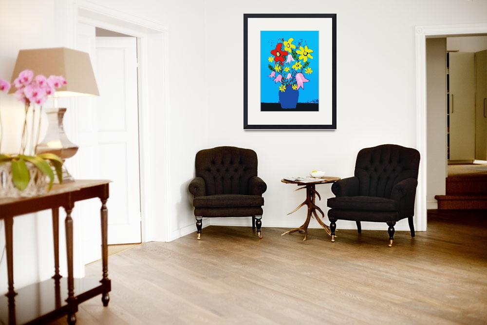 """""""Flowers in a Blue Vase&quot  (2012) by Scolas"""