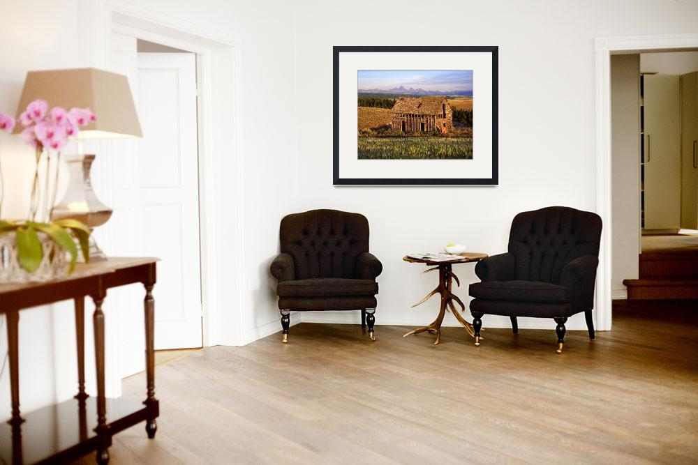 """""""Old House and the Teton Range&quot  (1995) by mikenorton"""