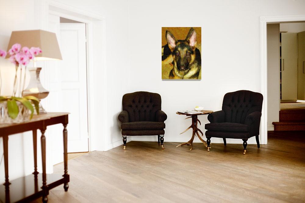 """Custom German Shepherd Canvas&quot  by Lemonjello"