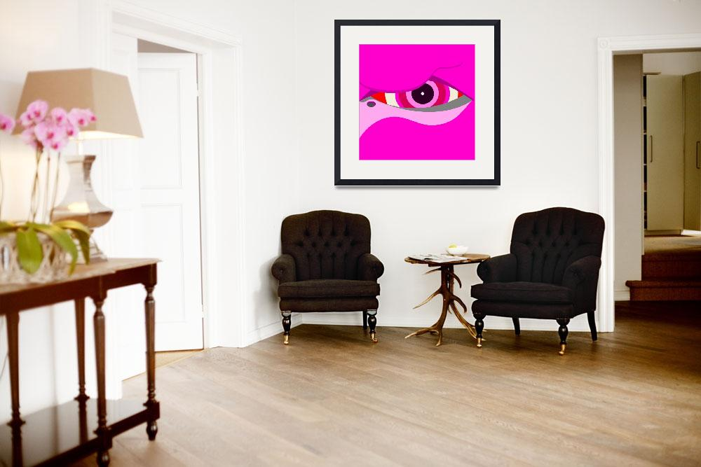 """Flamingo eye&quot  (2011) by debband"