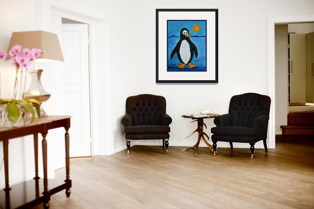 """""""Cute Penguin&quot  (2011) by paintingsbygretzky"""