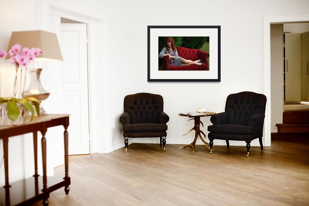"""""""Elegent on Sofa Ashley&quot  by CaiosPhotography"""