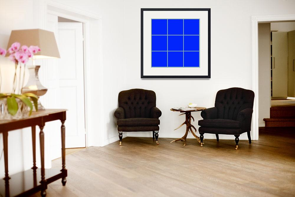 """Blue Window 104 Canvas Contemporary Modern&quot  (2010) by Ricardos"
