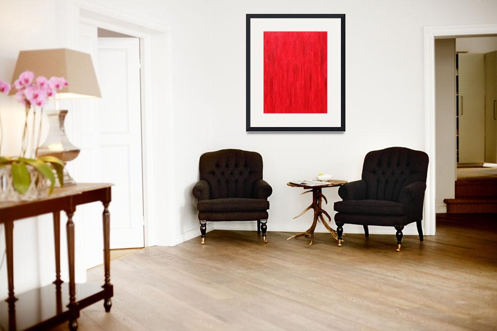 """""""RED Primary No 19&quot  (2009) by artbynj"""