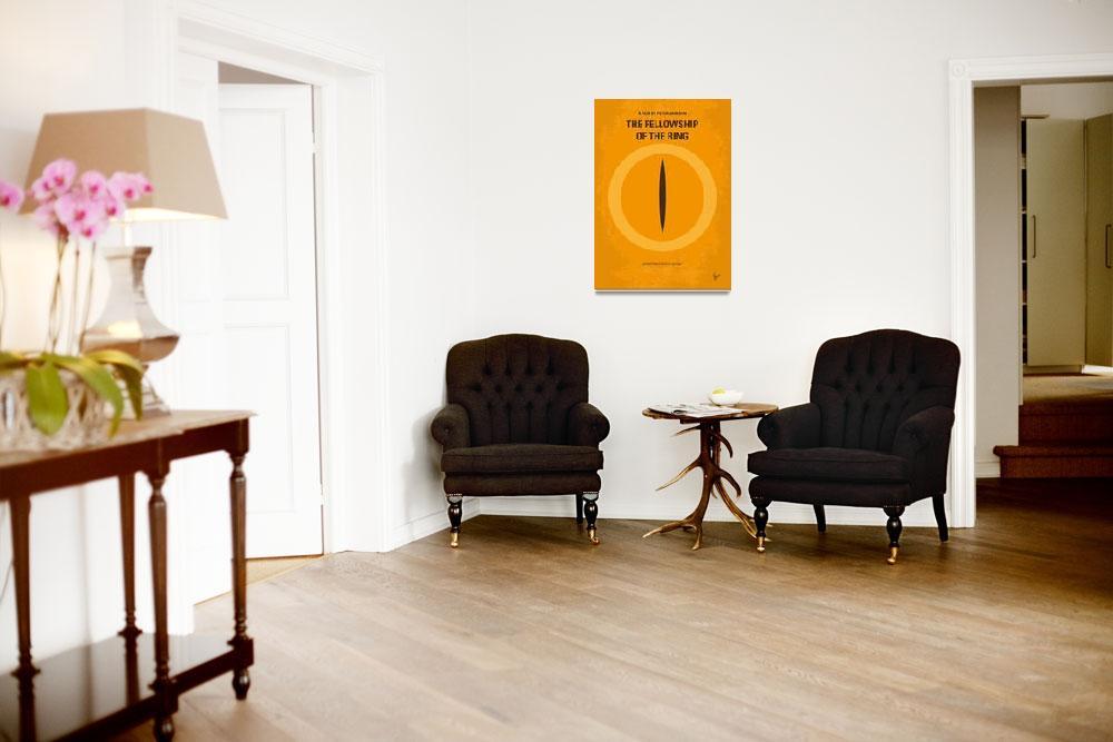 """No039-1 My LOTR 1 minimal movie poster&quot  by Chungkong"