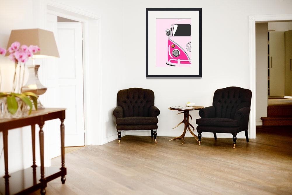 """Camper Pink&quot  (2010) by ModernArtPrints"