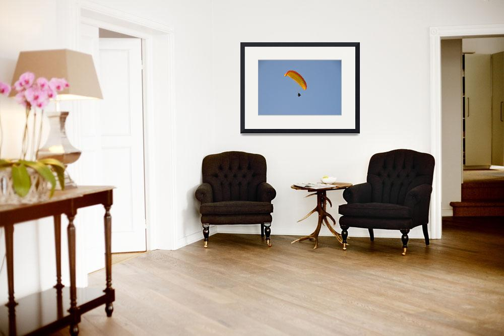 """""""Soaring Paraglider""""  (2014) by malcolmsnook"""
