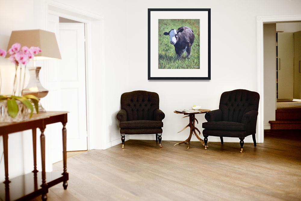 """""""Cow in grass&quot  (2012) by martindavey"""