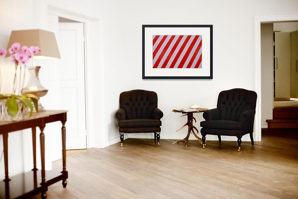 """""""Red Stripes""""  (2008) by Linaka"""