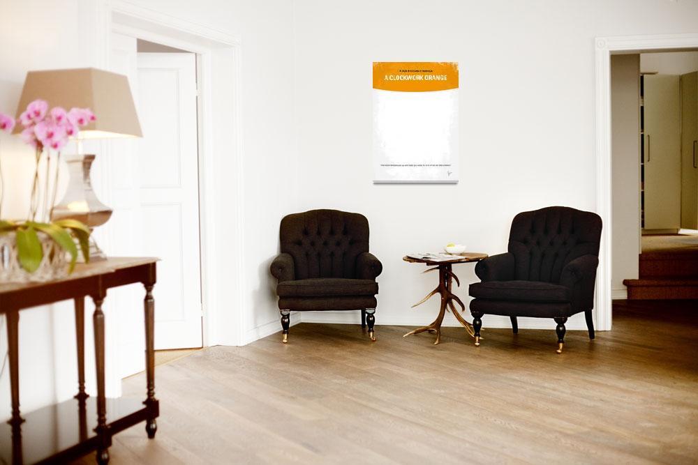 """No002 My A Clockwork Orange minimal movie poster&quot  by Chungkong"