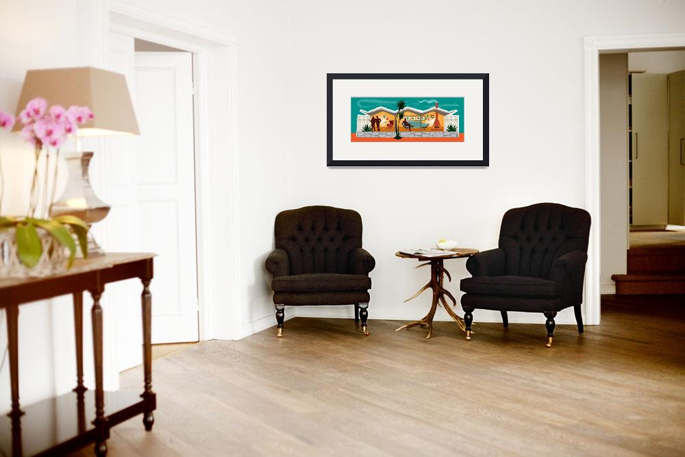 """""""Mid Century Modern House   Gay Men   Folded Roof A&quot  by DianeDempseyDesign"""