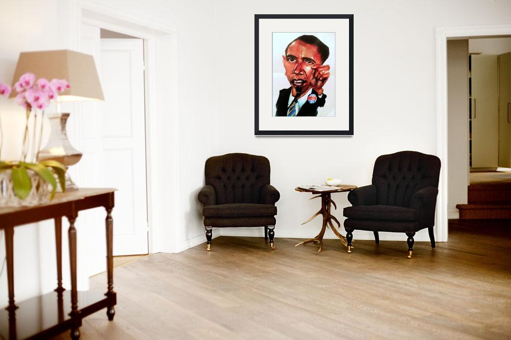 """Obama caricature&quot  (2008) by Greggdegroat"