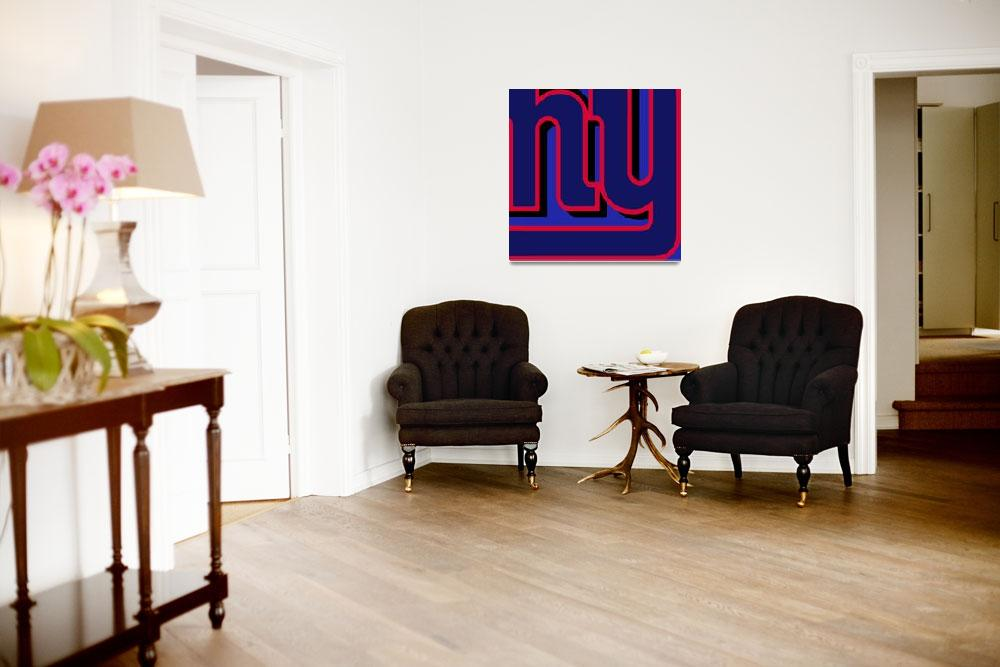 """New York Giants Football""  (2013) by RubinoFineArt"