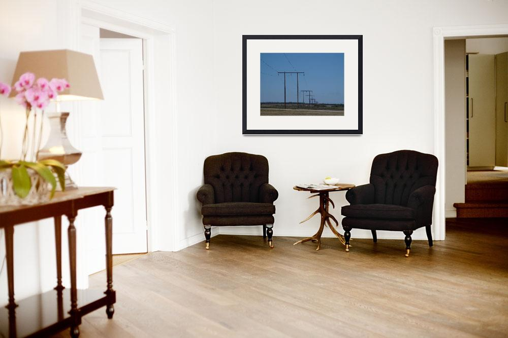 """""""West Texas Utilities 69-kV H-Frames&quot  (2003) by TheElectricOrphanage"""