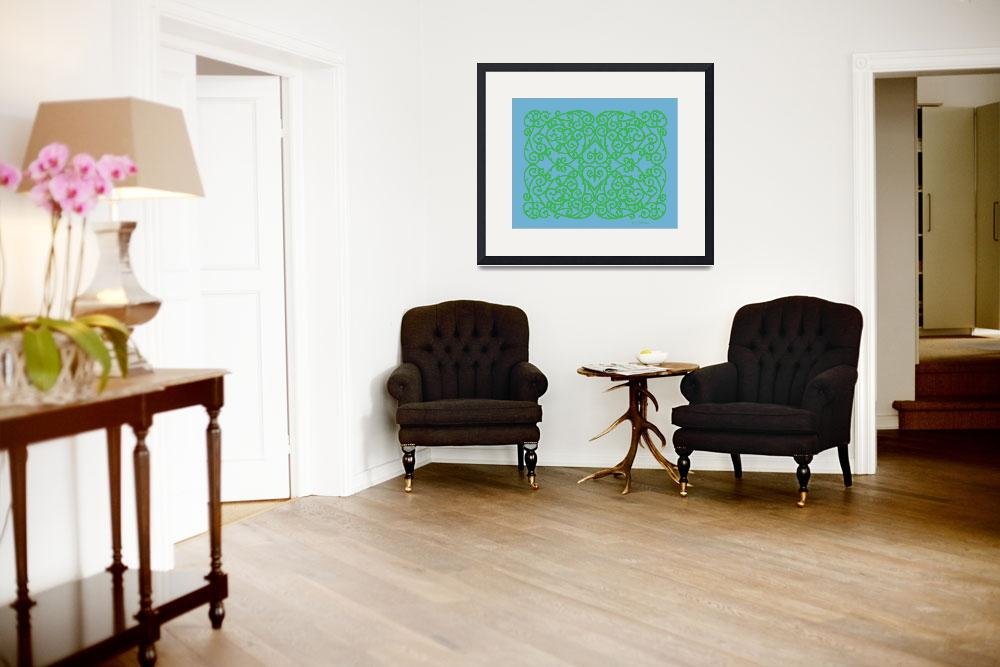 """""""Wrought Inspiration Green&quot  (2011) by HerbDickinson"""