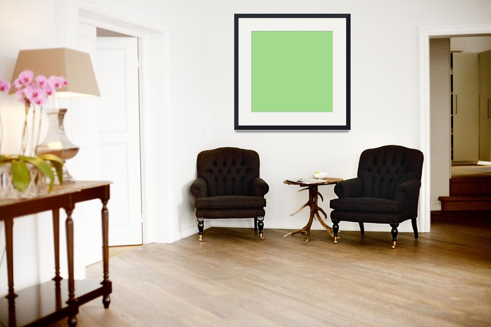 """""""Square PMS-359 HEX-A0DB8E Green&quot  (2010) by Ricardos"""
