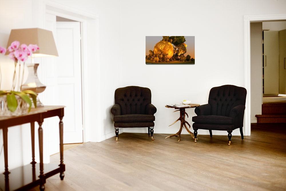 """The unique history of pumpkin. 2012 90/52 cm.""  (2012) by arttauta"