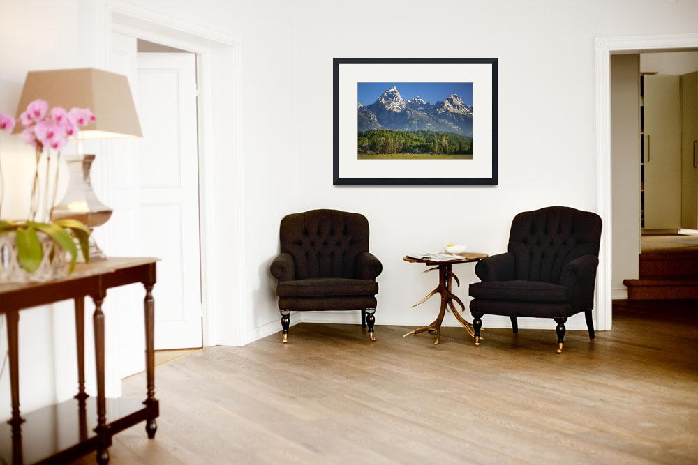 """""""Historic Jackson Hole Wyoming James Manges Home""""  (2012) by JTPatterson"""