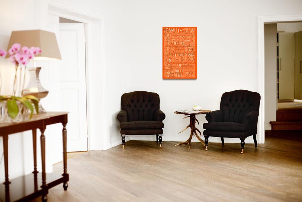 """Fam Proc • Orange&quot  by Logophilia"