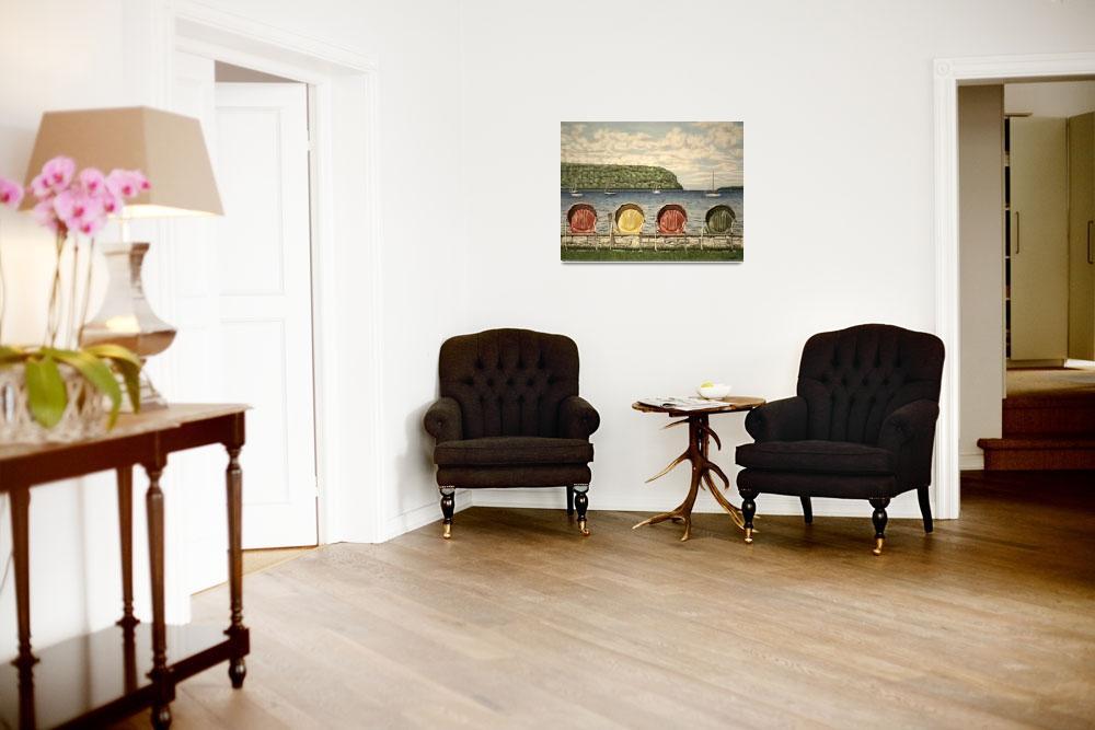 """Chairs by the Lake""  (2009) by jackimroczkowski"