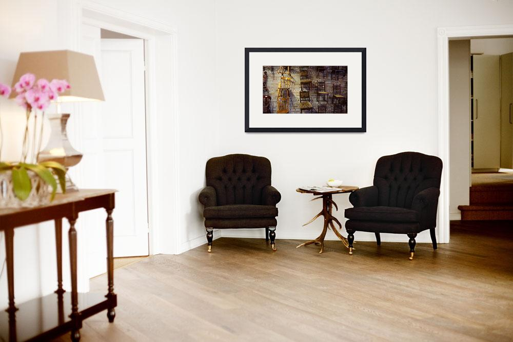 """""""BrickWallChairs-F&quot  by DHOranjPhoto"""