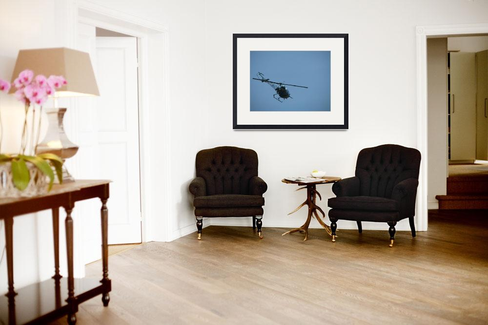 """Helicopter in Flight""  (2008) by alisonwest"