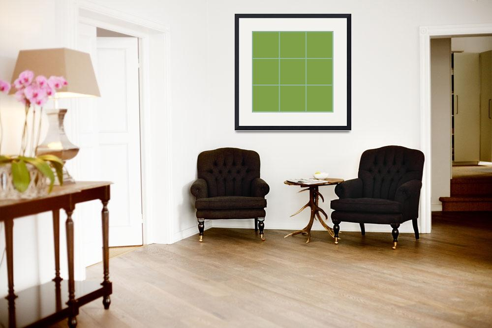 """""""Green Window 033 Canvas Contemporary Modern&quot  (2010) by Ricardos"""