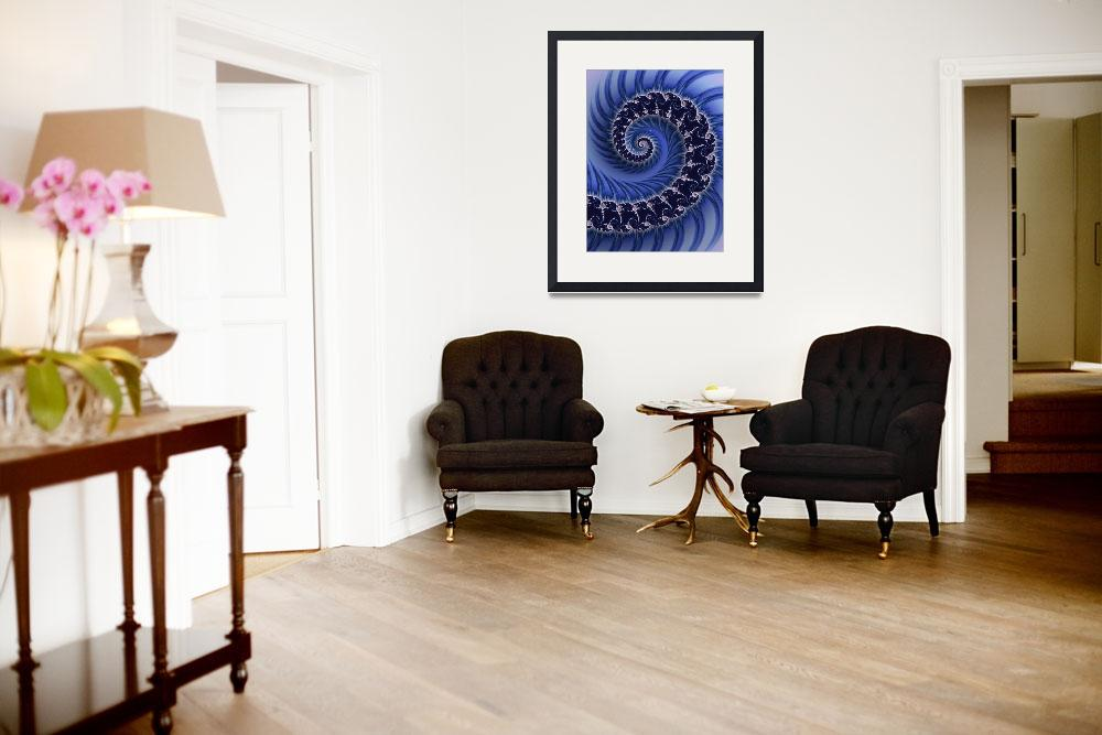 """Regal Blue Spiral&quot  (2013) by butchhauke"